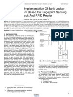 Design and Implementation of Bank Locker Security System Based on Fingerprint Sensing Circuit and Rfid Reader