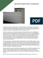 Replacing Your Garage Doors Smarter Than A Garage Door Repair Business?
