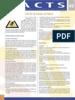 Factsheet 49 - Securite Lors de Travaux Sur Toiture