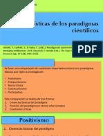 Características de los paradigmas que rigen la investigación científica