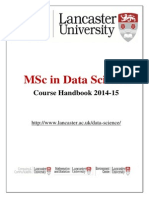 Lancaster University - MS Data Science Handbook