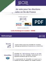 Régionales en Ile-de-France