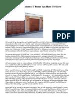 Garage Door Fix Norcross 5 Items You Have To Know