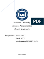 Creativity And Inovation - Marmara University Report