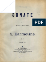 Barmotin - Violin Sonata, Op.14 Color Cover