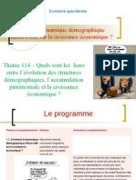 Thème 114 – Quels sont les  liens entre l'évolution des structures démographiques, l'accumulation patrimoniale et la croissance économique.ppt