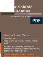 11. Fat Soluble Vitamins (1)