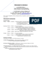 IMVC Program Schedule