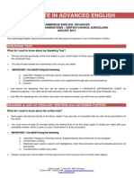 Instructions CAE August 2015
