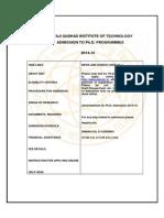 Phd Admission 2014