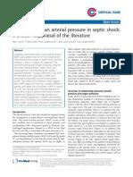 Optimizing Mean Arterial Pressure in Septic Shock - A Critical Reappraisal of the Literature