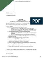 Globo PLC H1 2015 Report