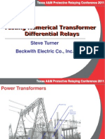 1 Testing Numerical Transformer Differential Relays 2011