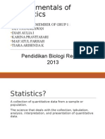 Fundamental of Statistic Kel. 1