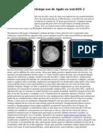 Cómo viajar en el tiempo uso de Apple en watchOS 2
