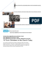 10 Toxic Christians in the Church Today