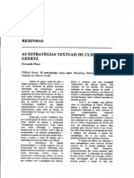 MASSI (Sd) as Estratégias Textuais de Clifford Geertz