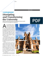 Disrupting and Transforming the University