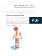 Pesos y Estatura Del Bebé