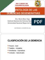 3. Fisiopatología de La Demencia Degenerativas I - Dra. María Meza Vega