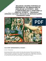 Genocidul Bolsevic Asupra Poporului Român
