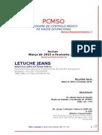 Letuche Jeans Marcelo Pcmso 2015