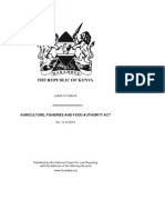Agriculture Fisheries and Food Authority Act No. 13 of 2013