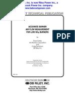 Rst-153 Accurate Air Flow Measurement - Low NOx Burner