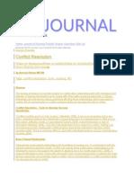 Journal Conlict