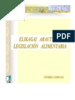 Legislación Alimentaria (Enero 2014)
