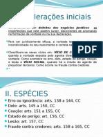 D.Civil II - DEFEITOS DO NEGÓCIO JURÍDICO