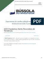 SAR Parabólico Alerta Reversões de Tendência - Blog de Investimentos