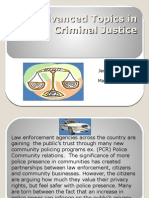Advanced Topics in Criminal Justice Unit 3 IP