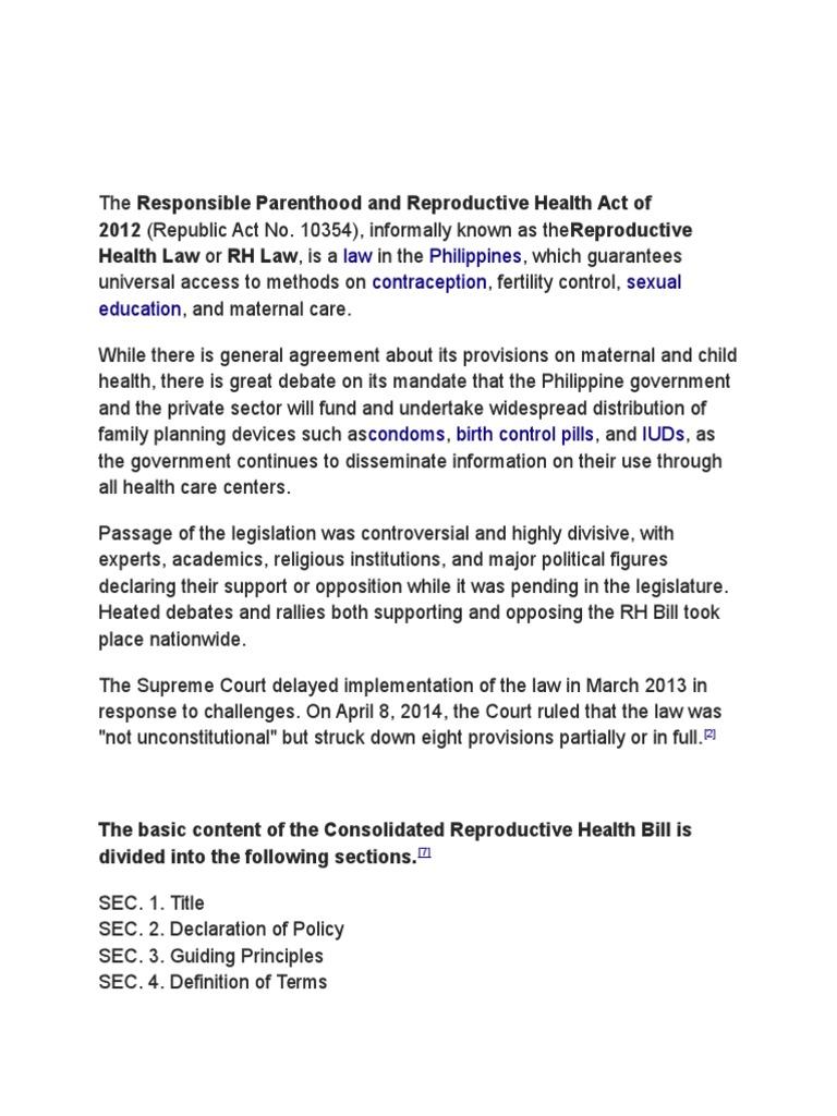 rh bill debate positive side
