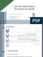 Principios de Aditividad y Contribuciones de Grupo