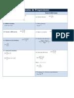 Fórmulas Progresiones