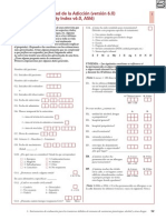 Indice Europeo de Gravedad de La Adiccion (EuropASI)