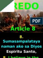 Kredo , Article 8, Holy Spirit