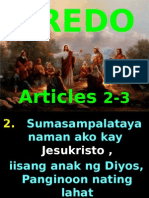 Kredo, Articles 2 and 3