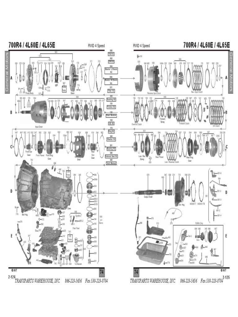 700r4 diagram