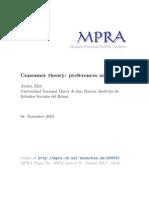 Teoria Del Consumidor - Preferencias y Utilidad