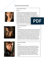 The Hunger Games Character Profile