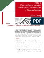 Francisco Javier Cervigon Ruckauer. Elaboración de Textos Académicos en Humanidades y Ciencias Sociales