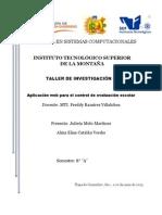 Protocolo de un proyecto de plicación web para el control de evaluación escolar