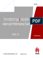 OTA105210 OptiX NG-SDH Alarm and Performance Event ISSUE 1.02