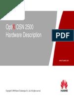 OTA105102 OptiX OSN 2500 Hardware Description ISSUE 1.30