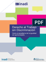 Derecho Al Trabajo Sin Discriminación