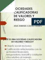 Exposicion Ana Ximena Castro - Sociedades Calificadoras de Valores y Riesgo
