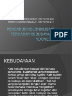 Pengaruh Kolonialisme Terhadap Kebudayaan Indonesia