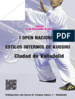 Dossier I OPEN NACIONAL DE ESTILOS INTERNOS DE KUOSHU CIUDAD DE VALLADOLID
